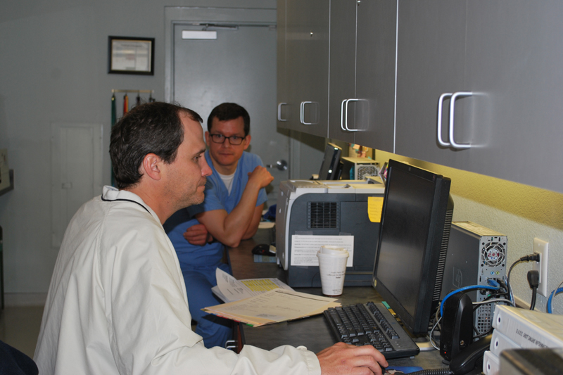 Dr. Reaugh consults on a referral